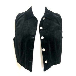 Gap Black Corduroy Button-Down Vest